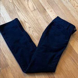 LOFT black modern straight corduroy pants